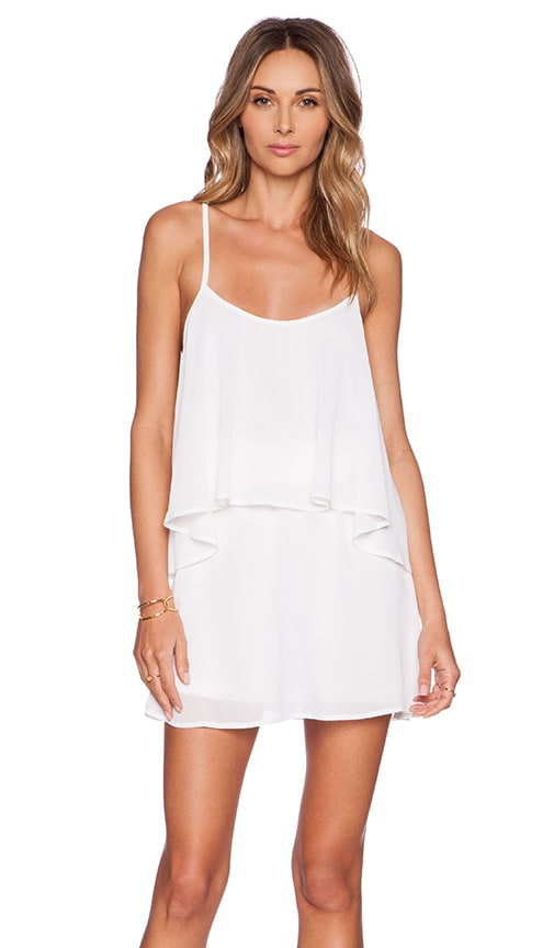 Show Me Your Mumu Dez Drape Dress in White Chiffon
