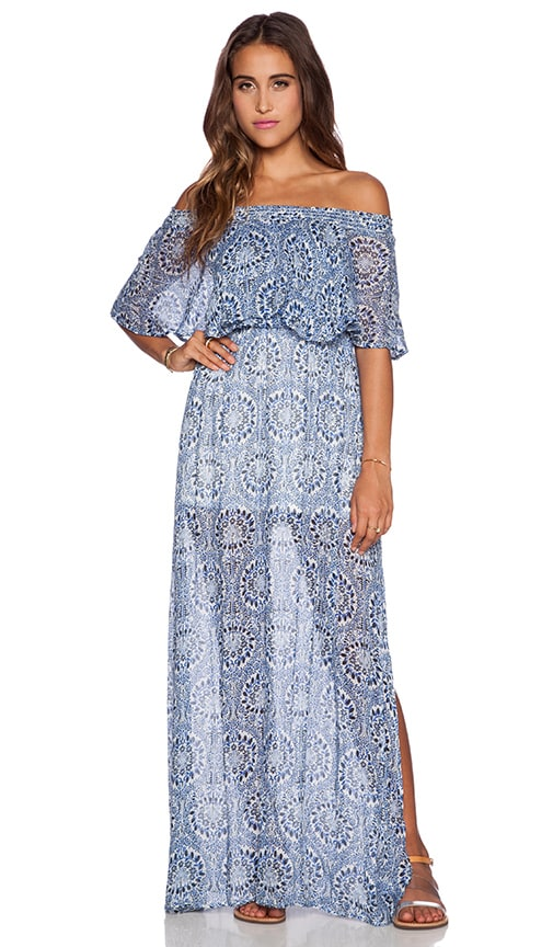 show me your mumu hacienda dress in cabo azul cloud revolve