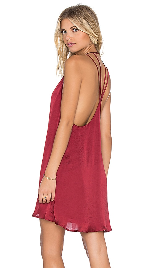 Show Me Your Mumu Martini Dress in Ruby Silky Satin