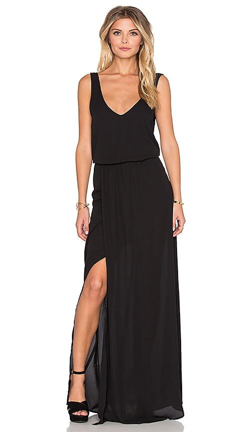 Show Me Your Mumu Kendall Maxi Dress in Black Crisp