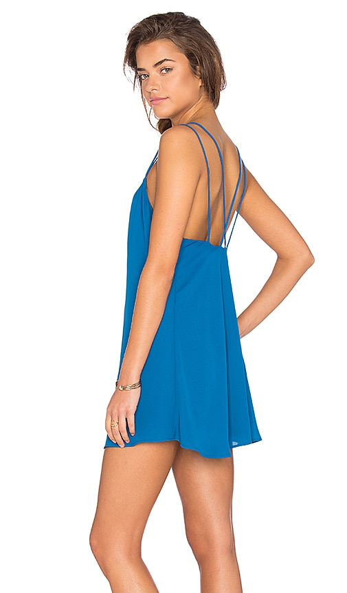 Show Me Your Mumu Criss Cross Applesauce Dress in Blue Lagoon Crisp