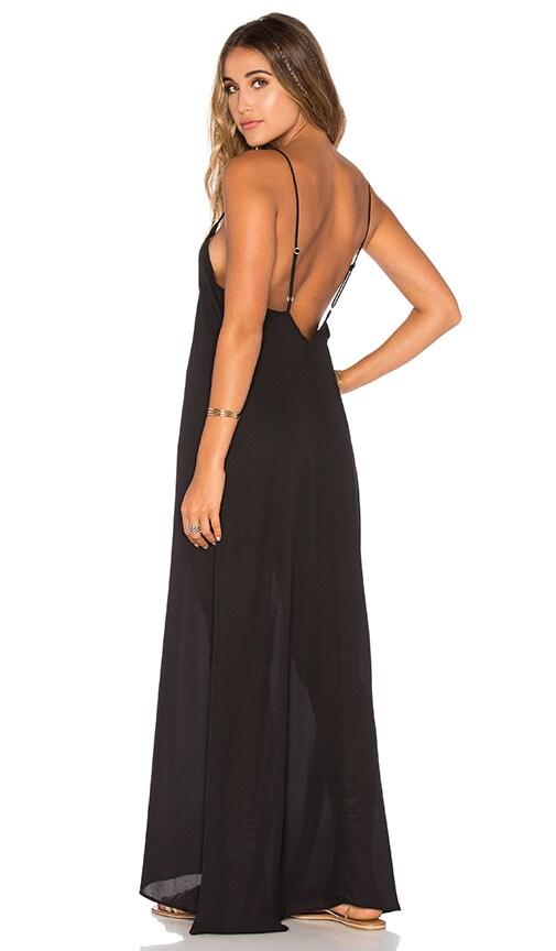 Show Me Your Mumu Montecito Dress in Black Cloud