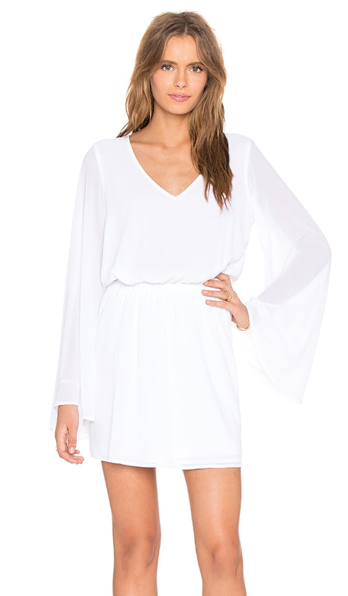 Show Me Your Mumu Runaway Mini Dress in White Chiffon