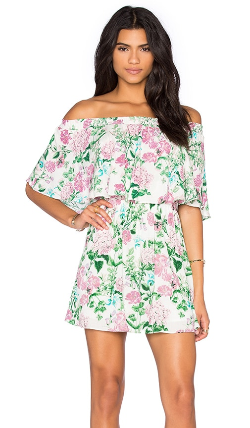 Show Me Your Mumu Casita Mini Dress in Poppies & Cream Cloud
