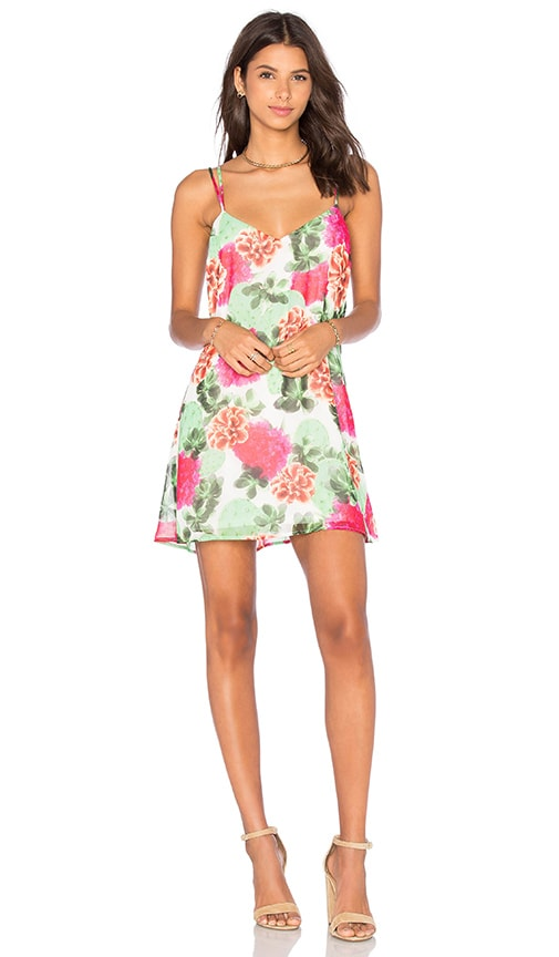 Show Me Your Mumu Criss Cross Applesauce Dress in Cactus Bloom