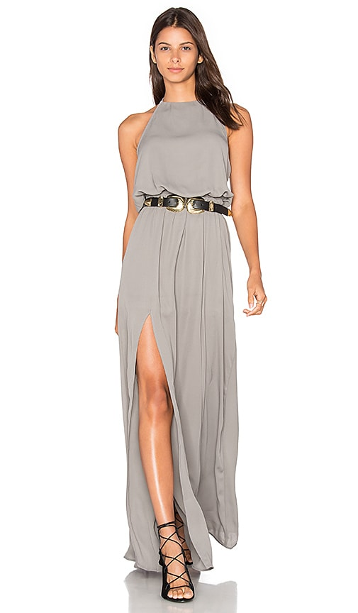 Show Me Your Mumu x REVOLVE Heather Halter Dress in Gray