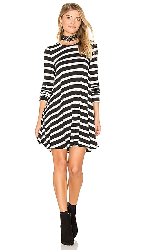 Show Me Your Mumu Tyler Tunic Dress in Black & White