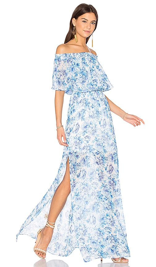Show Me Your Mumu Hacienda Maxi Dress in Blue