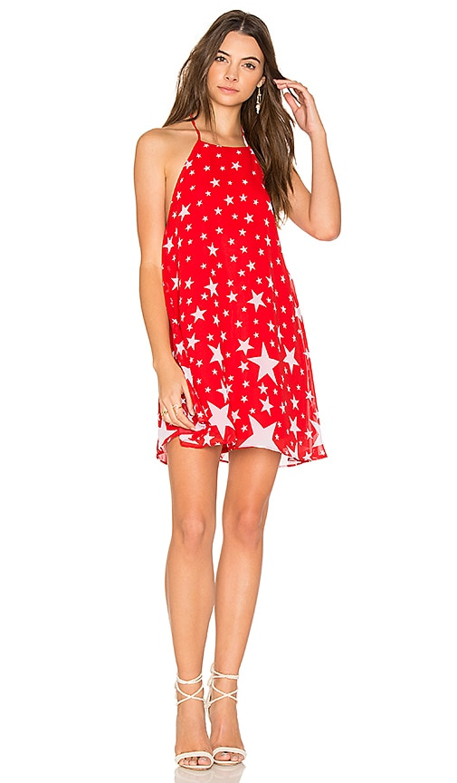 Show Me Your Mumu Katy Halter Dress in Red