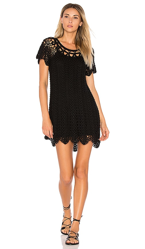 Show Me Your Mumu Crochet The Day Away Tunic in Black