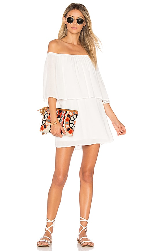Show Me Your Mumu Mako Mini Dress in White
