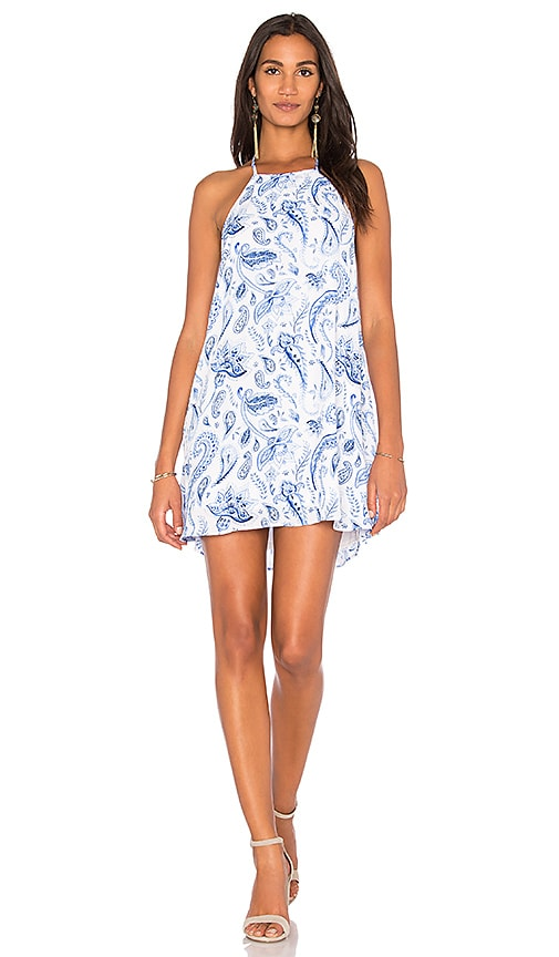 Show Me Your Mumu Katy Halter Dress in Blue