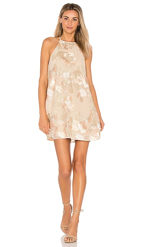 Show Me Your Mumu Gomez Mini Dress in Beige