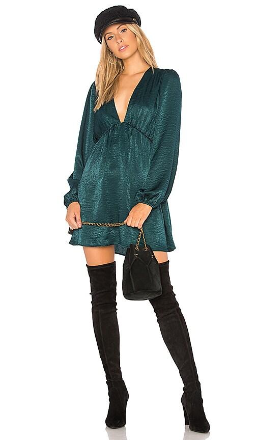 Show Me Your Mumu Dakota Mini Dress in Green
