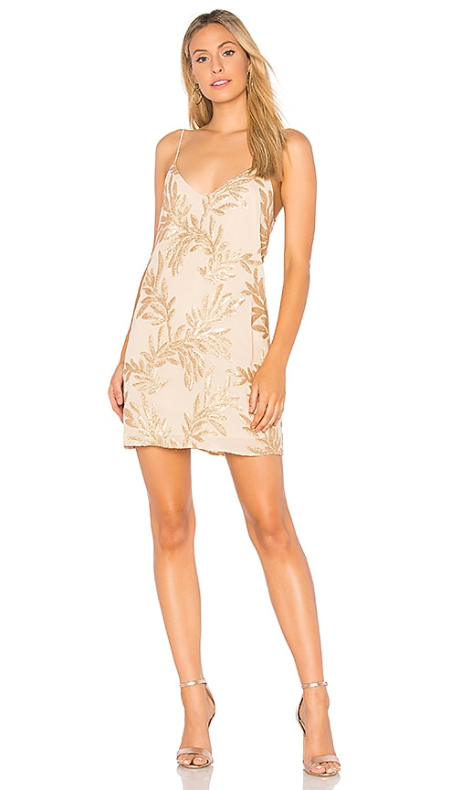 Show Me Your Mumu Vivienne Slip Dress in Metallic Gold