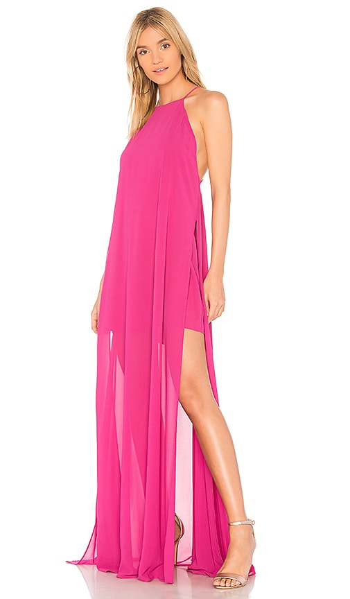 Show Me Your Mumu Bronte Maxi Dress in Pink