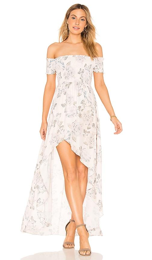 Show Me Your Mumu Willa Maxi Dress in White