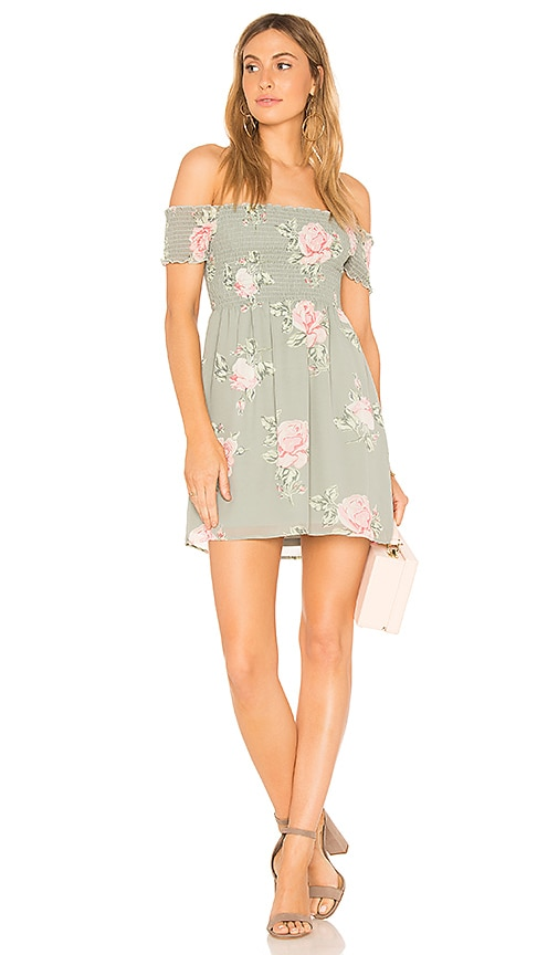 Show Me Your Mumu Dolly Smocked Dress in Green