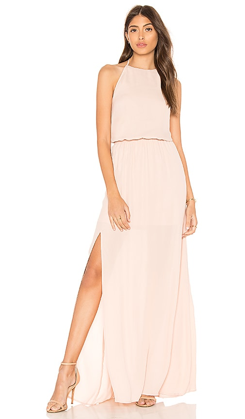 Show Me Your Mumu Heather Halter Dress in Blush