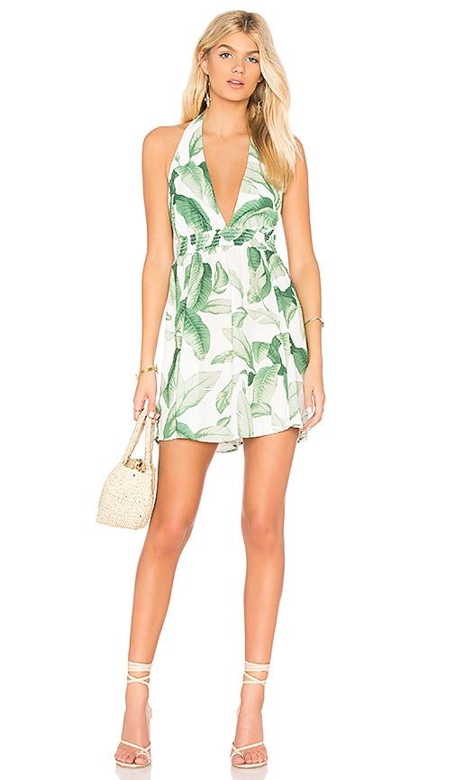 Show Me Your Mumu Island Mini Dress in Green
