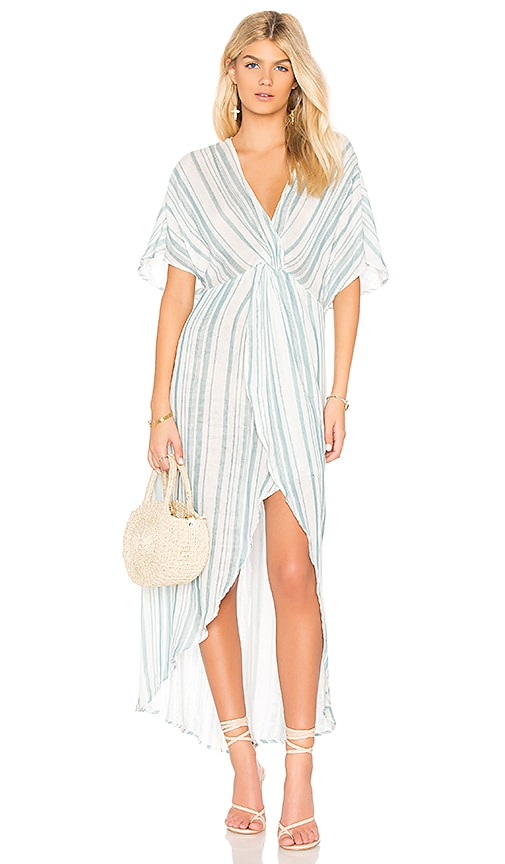Show Me Your Mumu Get Twisted Maxi Dress in Blue