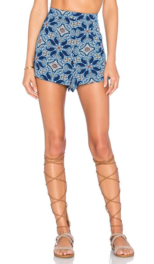 Show Me Your Mumu Martine Shorts in Blue