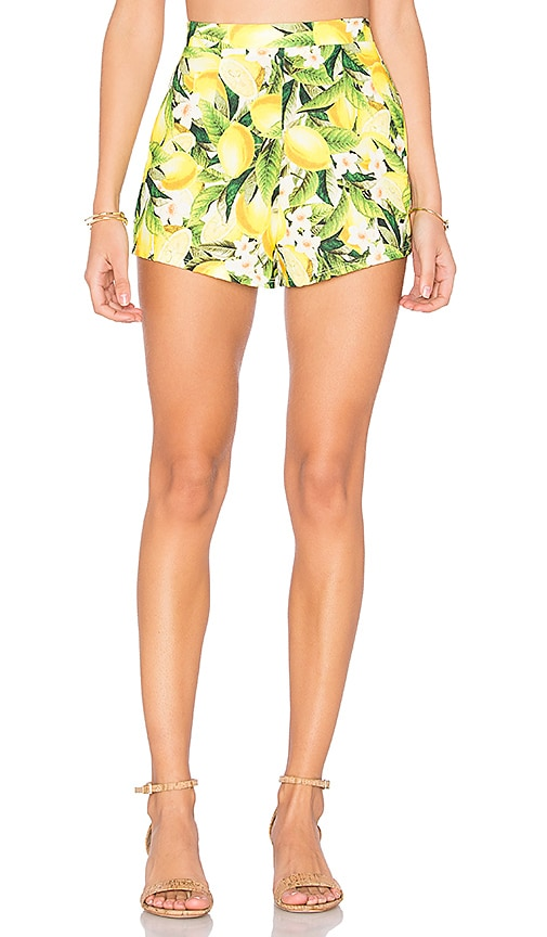 Show Me Your Mumu Martine Short in Yellow
