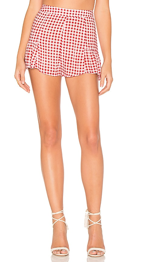 Show Me Your Mumu Skippy Shorts in Red