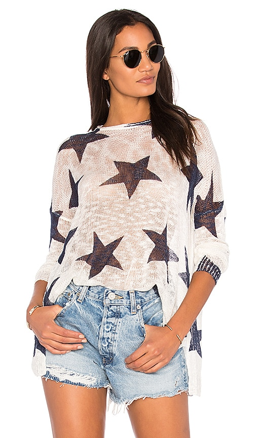 Show Me Your Mumu Bonfire Sweater in White