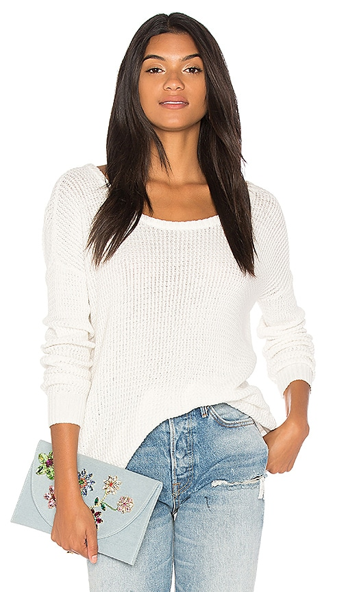 Show Me Your Mumu Ryan Rene Reversible Sweater in White