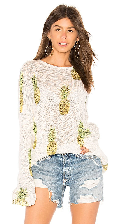 Show Me Your Mumu Varsity Sweater in Ivory