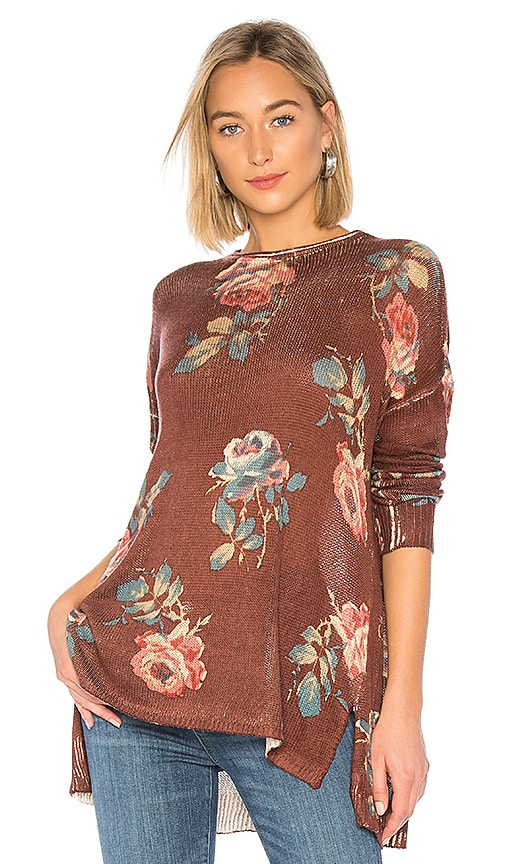 958885547 Show Me Your Mumu Bonfire Sweater in Chocolate Rose Knit