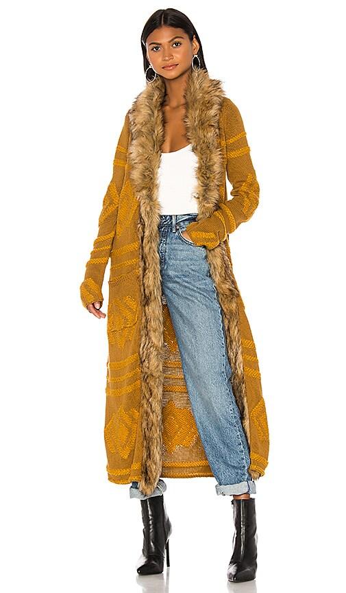 Langston Faux Fur Cardigan