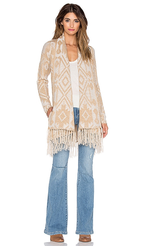 Show Me Your Mumu Nevada Sweater in Brown Fringe
