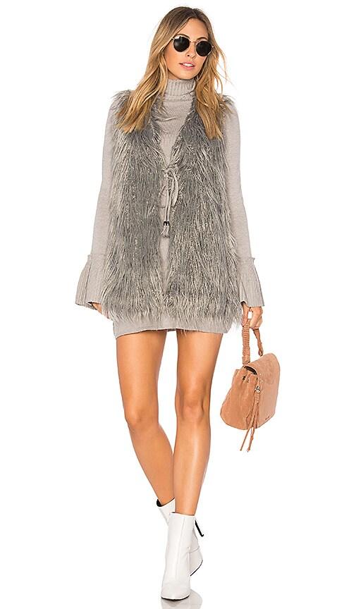 Show Me Your Mumu Luis Faux Fur Vest in Gray