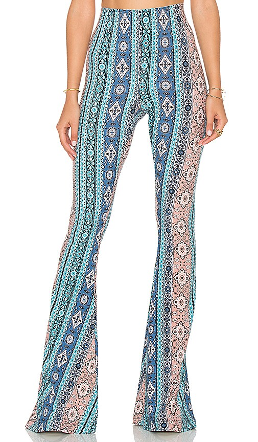 Show Me Your Mumu Bam Bam Bell Pants in Blue