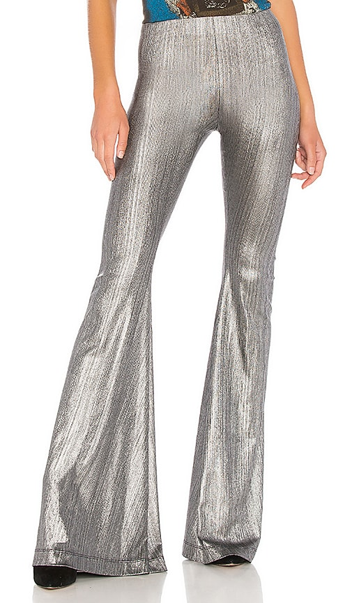Show Me Your Mumu Bam Bam Bells Pants in Metallic Silver