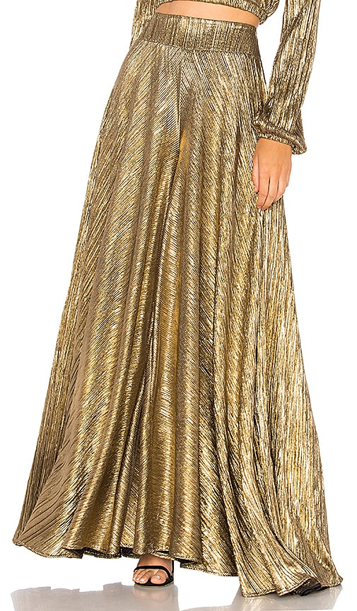 Show Me Your Mumu Dance Pant in Metallic Gold