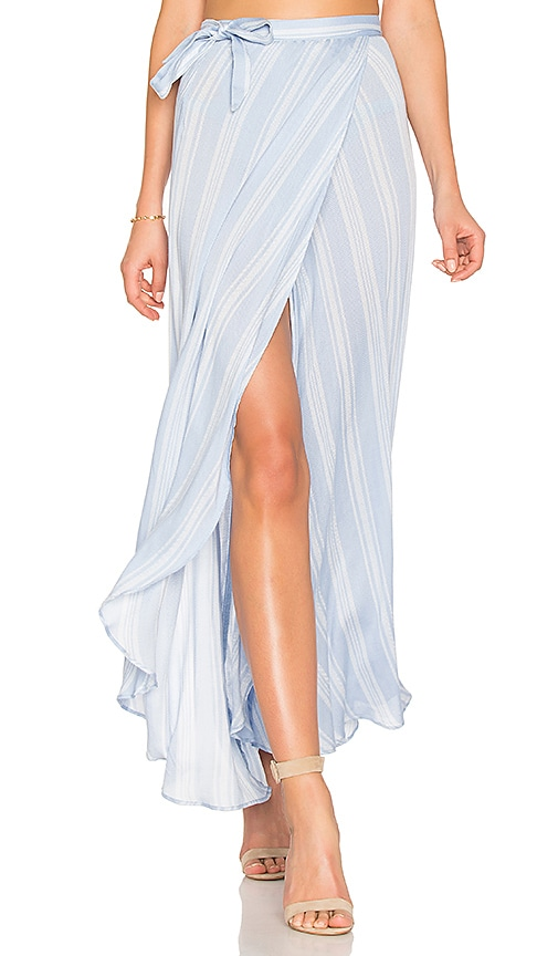 Show Me Your Mumu Siren Wrap Skirt in Blue