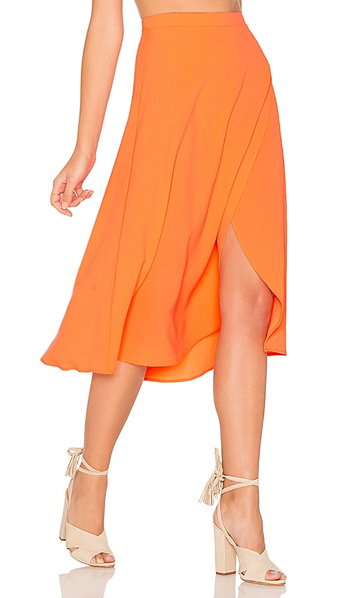 Show Me Your Mumu Flirt Skirt in Orange