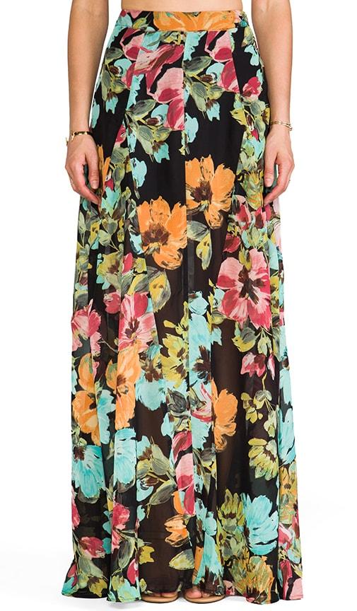 Show Me Your Mumu Princess Di Ball Gown Maxi Skirt in Flower Paint ...
