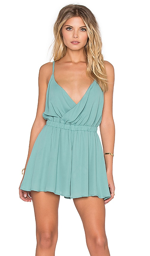 Show Me Your Mumu Olympia Romper in Green