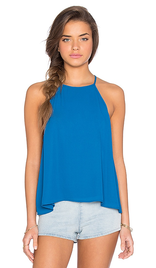 Show Me Your Mumu Selena Top in Blue Lagoon Crisp