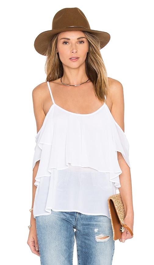 Show Me Your Mumu Romance Ruffle Top in White
