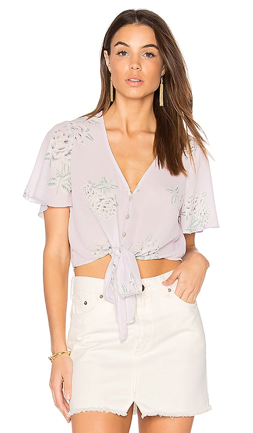 Show Me Your Mumu Tortuga Tie Top in Purple