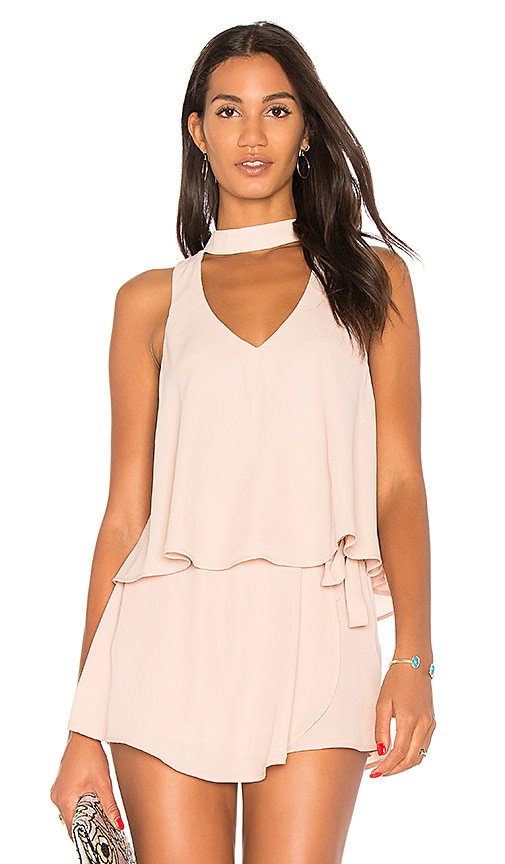 Show Me Your Mumu Casey Collar Top in Blush