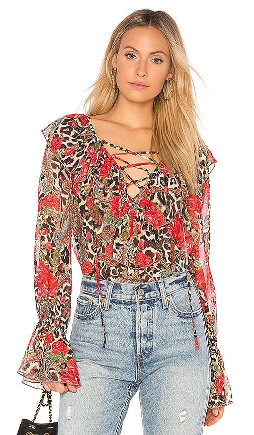 Show Me Your Mumu Elton Top in Brown
