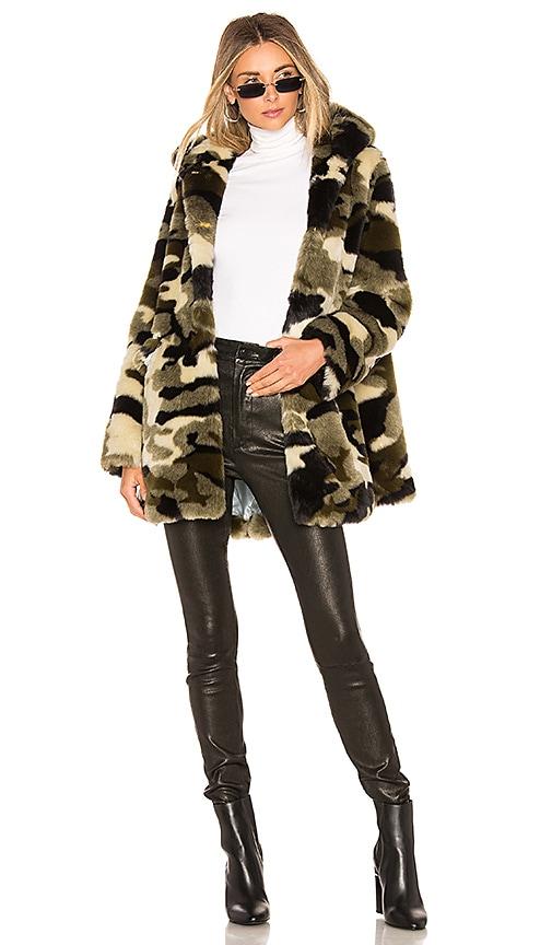 Vega Faux Fur Coat by Shrimps