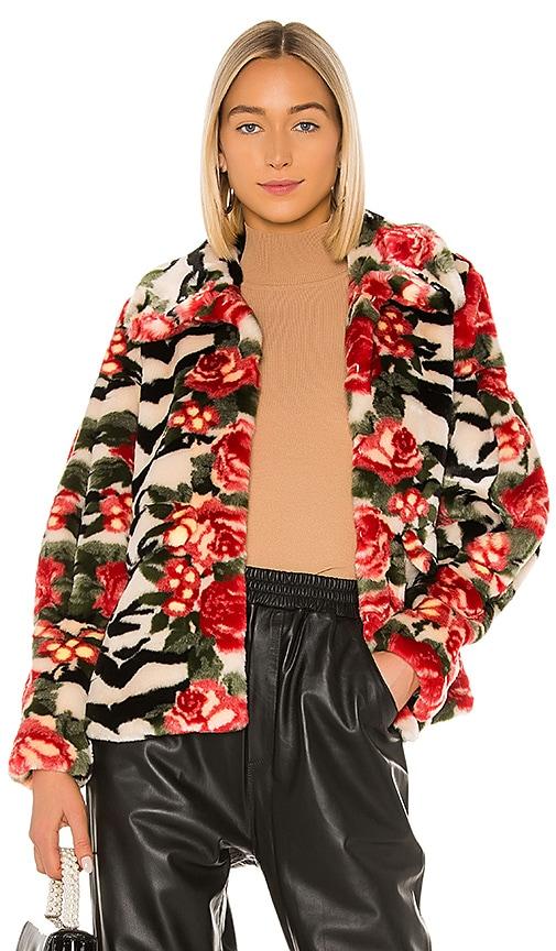 Shrimps Zio Faux Fur Jacket in Tiger Rose | REVOLVE