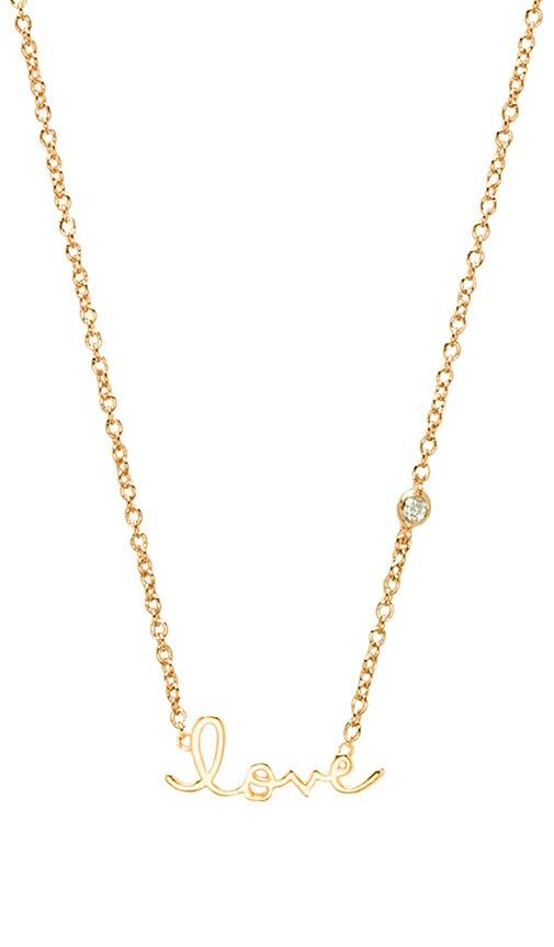 Love Necklace with Diamond Bezel